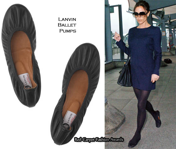 LANVIN Leather Ballerina Flat sale with credit card OhOM8Yc