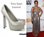 In Mary J Blige's Closet - YSL Tribtoo Grey Heels