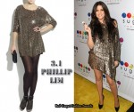 In Khloe Kardashian's Closet - 3.1 Phillip Lim Silk Sequined T-shirt Dress
