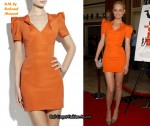 In Amber Valletta's Closet - RM by Roland Mouret Orange Dress