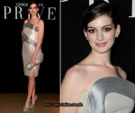 Anne Hathaway Front Row At Armani Privé Spring 2010