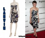 In Carey Mulligan's Closet - Lanvin Floral Print Dress