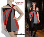 In Christina Ricci's Closet - Alexander McQueen Knitted Asymmetric Spiral Dress