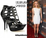 In Diane Kruger's Closet - Emilio Pucci Cut Out Studded Leather Sandals