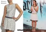 In Emma Watson's Closet - Proenza Schouler Organza Tweed Dress