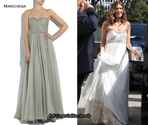 New on net a porter today rhea durham 39 s marchesa wedding for Wedding dress shops durham