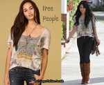 In Vanessa Hudgens' Closet - Free People Bohemian Flutter Sleeve Top