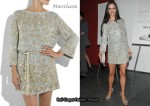 In Georgina Chapman's Closet - Marchesa Embroidered Belted Tunic Dress