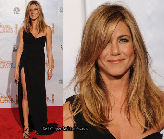 Jennifer Aniston in Valentino & Gerard Butler