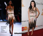"Runway To Grammy Awards ""Salute To Icons Honoring Doug Morris"" Clive Davis Event - Katy Perry In Georges Chakra Couture"