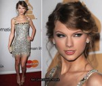 "Grammy Awards ""Salute To Icons Honoring Doug Morris"" Clive Davis Event - Taylor Swift In Collette Dinnigan"