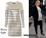 In Jenna Elfman's Closet - Markus Lupfer Stripe Sequin Sailor Knitted Dress