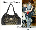 In Jessica Alba's Closet - Jimmy Choo Ramona Studded Leather Bag