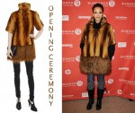 In Jessica Alba's Closet - Opening Ceremony Two Tone Faux Fur Coat