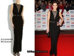 In Kara Tointon's Closet - Alexander McQueen Lace-Detail Floor-Length Gown