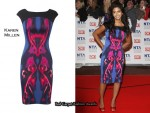 In Konnie Huq's Closet - Karen Millen Kaleidoscope Print Dress