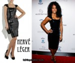 In Kelly Rowland's Closet - Hervé Léger Sequined Bandage Dress
