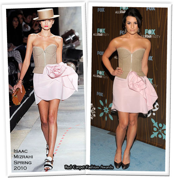 Runway To Fox All Star Party Lea Michelle In Isaac Mizrahi