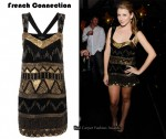 In Lauren Bosworth's Closet - French Connection Black & Gold Sequin Dress