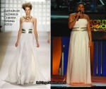 Queen Latifah Hosts The 2010 People's Choice Awards Wearing Edition by Georges Chakra
