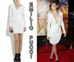 In Rachel McAdams Closet - Emilio Pucci Draped Strong-Shouldered Mini Dress