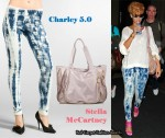 In Rihanna's Closet - Charley 5.0 Tie-Dye Leggings & Stella McCartney Bag