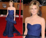 2010 SAG Awards - Drew Barrymore In Monique Lhuillier