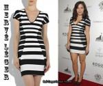 In Sophia Bush's Closet - Hervé Léger Striped Bandage Mini Dress