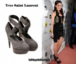 In Leighton Meester's Closet - YSL Suede Ankle Boots