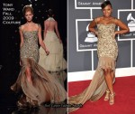 Runway To 2010 Grammy Awards - Ashanti In Tony Ward Couture