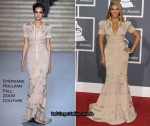 Runway To 2010 Grammy Awards - Beyonce Knowles In Stéphane Rolland