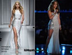 Runway To 2010 Grammy Awards - Jennifer Lopez In Versace
