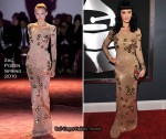 Runway To 2010 Grammy Awards - Katy Perry In Zac Posen