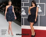 Runway To 2010 Grammy Awards – Lea Michele In Romona Keveza