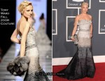 Runway To 2010 Grammy Awards - Pink In Tony Ward Couture