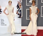 Runway To 2010 Grammy Awards - Rihanna In Elie Saab Couture