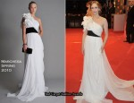 Runway To 2010 BAFTAs - Vera Farmiga In Marchesa