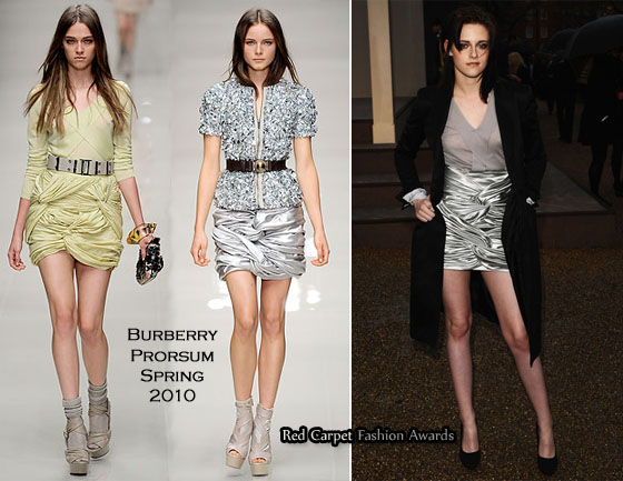 1e10573f Kristen Stewart was one of the many celebrities who had a front row seat at  the Burberry Prorsum Fall 2010 presentation in London yesterday.