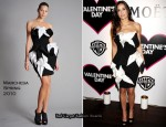 "Runway To ""Valentines Day"" London Premiere - Demi Moore In Marchesa"