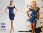 In Holly Madison's Closet - BCBG Max Azria Off-The-Shoulder Metallic Taffeta Dress