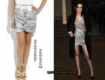 In Kristen Stewart's Closet - Burberry Prorsum Knot Skirt