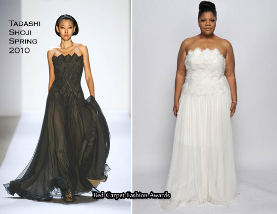 Runway To 41st Naacp Image Awards Mo Nique In Tadashi Shoji Best Dressed Award