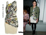 In Olivia Palermo's Closet - Topshop Graffiti Mini Dress