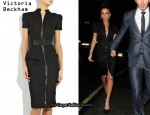 In Victoria Beckham's Closet - Victoria Beckham Silk-Gazar Strass Swarovski Dress
