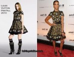 Runway To amfAR New York Gala To Kick Off Fall 2010 Fashion Week - Zoe Saldana In Louis Vuitton