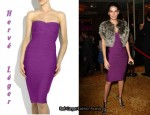 In Angie Harmon's Closet - Hervé Léger Strapless Bandage Dress
