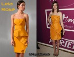 In Anne Hathaway's Closet - Lela Rose Yellow Strapless Dress
