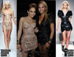 "Runway To L.A."" Reid's Post-Grammy Dinner - Jennifer Lopez In Versace & Beyonce Knowles In Balmain"