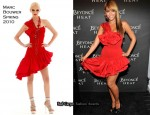 """Runway """"Heat"""" Fragrance Launch - Beyonce Knowles In Marc Bouwer"""