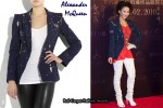 In Coco Lee's Closet - Alexander McQueen Paint-Splattered Denim Blazer
